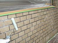 特殊アクリル樹脂系塗膜防水・保護工法 JKセライダー本剤塗布(中塗り)
