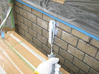 特殊アクリル樹脂系塗膜防水・保護工法 JKコート本剤塗布(中塗り2回目)